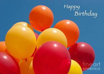 Happy Birthday Balloons Print by Ann Horn