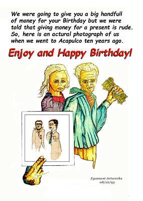 Happy Birthday Office Memo Employee Print by Michael Shone SR