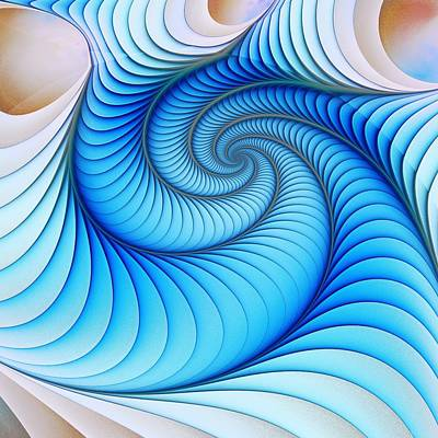 Happy Blue Print by Anastasiya Malakhova