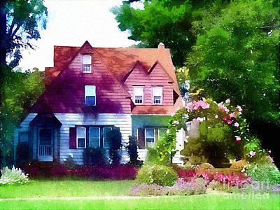 Charming Cottage Digital Art - Happy Cottage by James Elmore