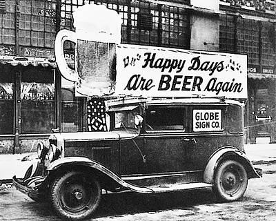 Happy Days Are Beer Again Print by Bill Cannon