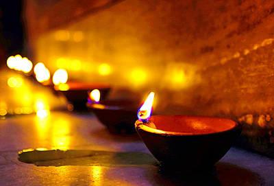 Rangoli Photograph - Happy Diwali by Prakash Ghai