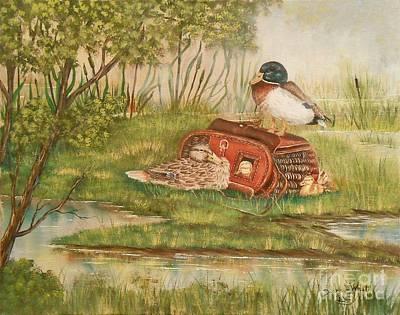 Happy Duck Family Original by Duane West