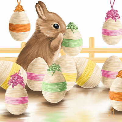 Digital Painting - Happy Easter 2013 by Veronica Minozzi