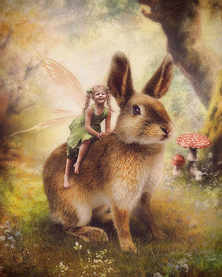 Happy Easter Print by Cindy Grundsten
