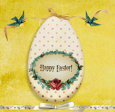 Gillian Digital Art - Happy Easter by Gillian Singleton