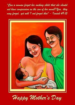 Mixed Media - Happy Family by Cyril Maza