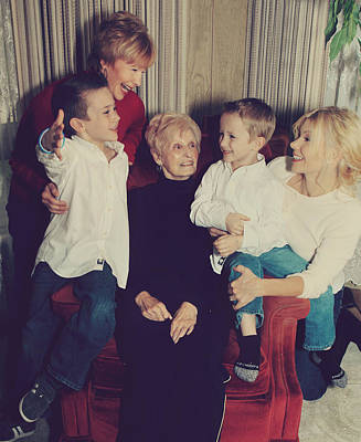 Grandma Photograph - Happy Family by Laurie Search