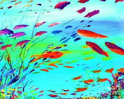 Kitchen Painting - Happy Fish Day by James and Donna Daugherty