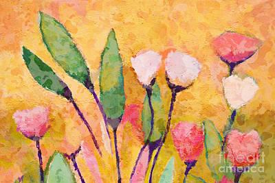 Serenade Painting - Happy Flowers by Lutz Baar