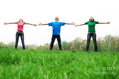 Unity Photograph - Happy Friends by Michal Bednarek