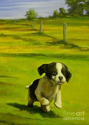 Lucky Dogs Painting - Happy Go Lucky by John Malone
