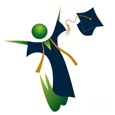 Tassel Digital Art - Happy Graduate by John Takai