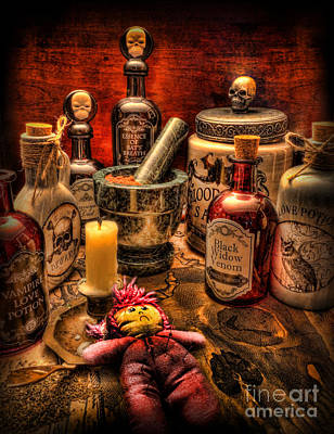 Voodoo Doll Photograph - Happy Halloween by Lee Dos Santos