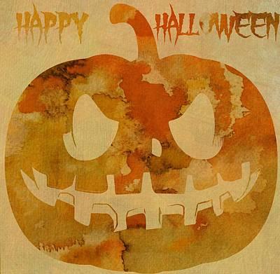 Jack-o-lantern Digital Art - Happy Halloween Pumpkin by Dan Sproul