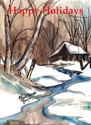 Happy Holidays In The Country  Print by Anna Sandhu Ray