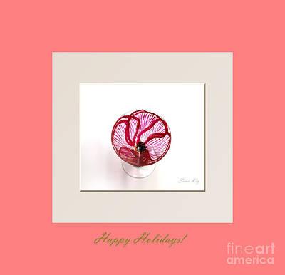 Happy Holidays. Poppy Print by Oksana Semenchenko