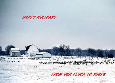 Happy Holidays Print by Skip Willits