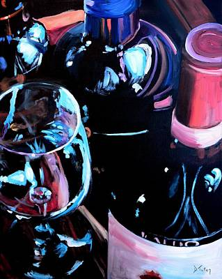 Syrah Painting - Happy Hour by Donna Tuten
