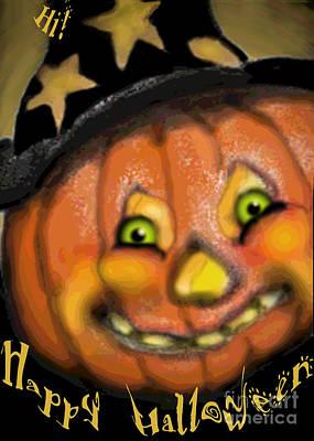 Halloween Card Digital Art - Happy Jack by Carol Jacobs