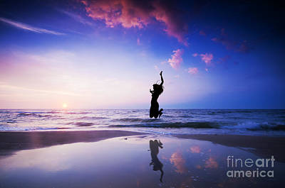 Weekend Photograph - Happy Jump Jumping On Beach by Michal Bednarek