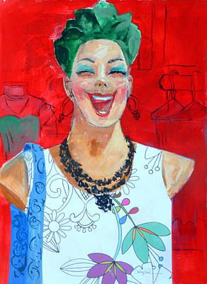 Manikins Painting - Happy Manikin by Suzy Pal Powell