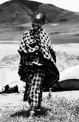 Happy Masaii Child -ngorongoro Conservation - Stonetown Editions Africasnapshots Original by Nasser Studios