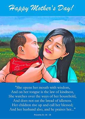 Mixed Media - Happy Mom And Babe by Cyril Maza