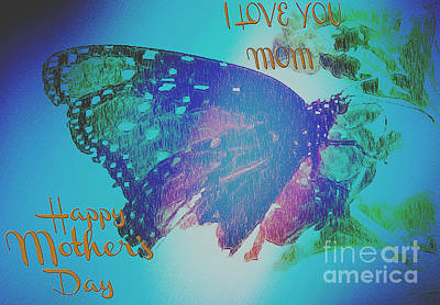 Happy Mothers Day Print by Beverly Guilliams