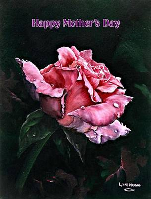 Romantic Painting - Happy Mother's Day by Lynne Wright