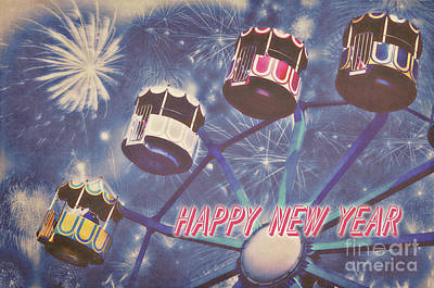 Happy New Year Print by Angela Doelling AD DESIGN Photo and PhotoArt