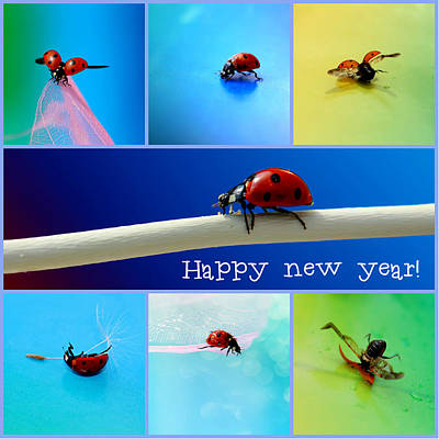 Happy New Year Print by Heike Hultsch