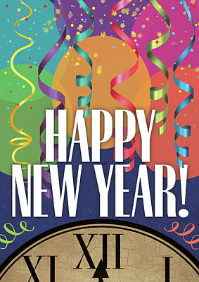 Happy New Year Print by Tammy Apple