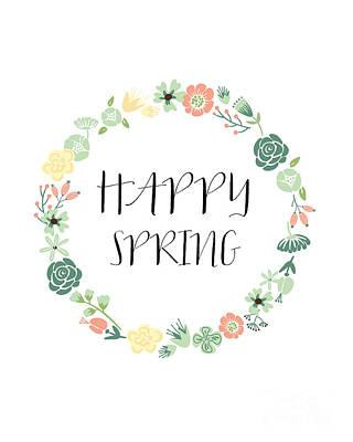 Happy Spring  Print by Natalie Skywalker