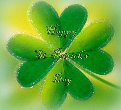Happy St. Patrick's Day Print by The Creative Minds Art and Photography