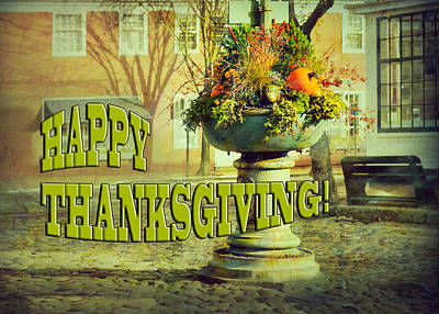 Of Bittersweet Photograph - Happy Thanksgiving Card by Marianne Campolongo