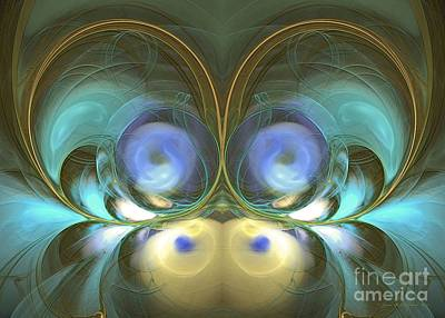 Green Digital Art - Happy Thing - Surrealism by Sipo Liimatainen