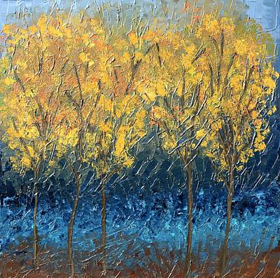 Landscape Painting - Happy Trees by Linda Bailey