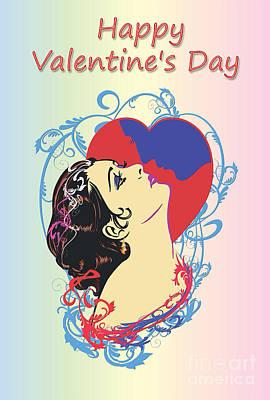 Happy Valentine's Day 1  Print by Andrzej Szczerski