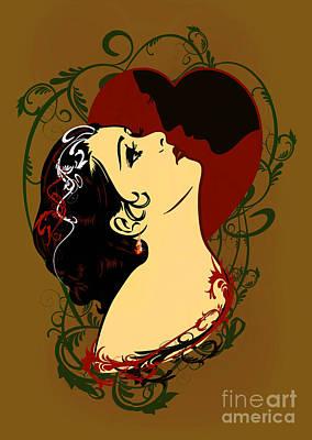 Happy Valentine's Day. Print by Andrzej Szczerski