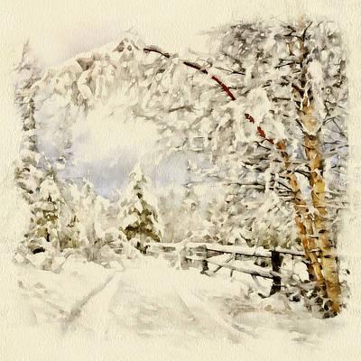 Building Exterior Digital Art - Happy Winter by Yury Malkov