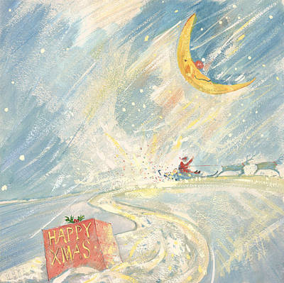 Winter Storm Painting - Happy Xmas  by David Cooke