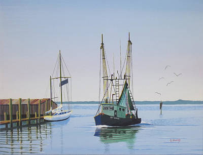 Harbor Days End Print by Gregory Murray