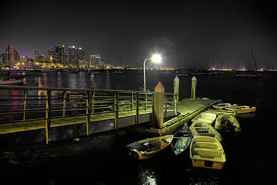 Dinghy Photograph - Harbor Dinghies by Peter Tellone