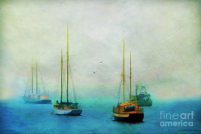 Harbor Fog Print by Darren Fisher