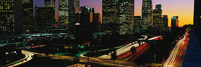 Eve Photograph - Harbor Freeway Los Angeles Ca by Panoramic Images