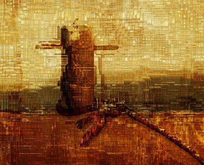 Language Digital Art - Harbor by Jack Zulli