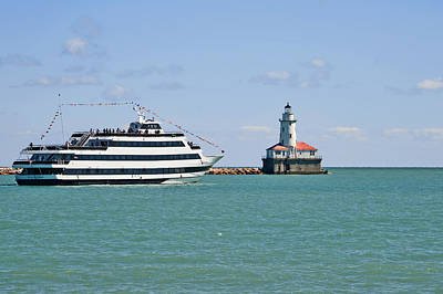 Waterscapes Photograph - Harbor Light Chicago by Christine Till