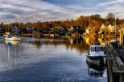 Harbor Light Print by Mark Papke