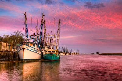 Harbor Sunset Print by Debra and Dave Vanderlaan